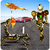 Scorpion Robot Transformation: Flying Car Wars