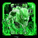 Flaming Green Dragon Theme icon