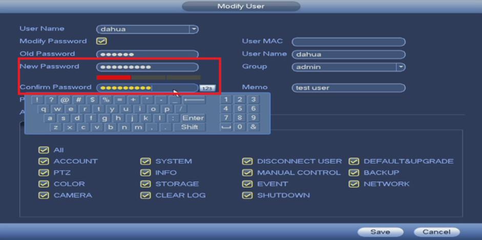 hướng dẫn đổi mật khẩu đầu ghi dahua