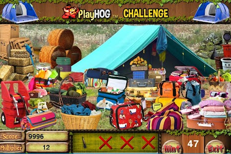Challenge #222 Camp Out Free Hidden Objects Games - náhled