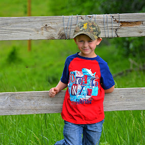 Cowboy by Amber Reeder Crowl - Babies & Children Child Portraits ( farm, cowboy, country kids, family, farm life, happiness, country )
