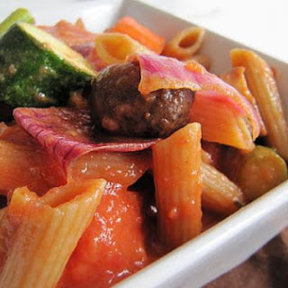 Rustic Pasta with Chunky Vegetables