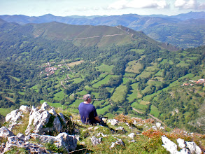 Photo: JOAQUÍN disfrutando de la vista sobre el valle de Villabre (Villabre y Fojó)