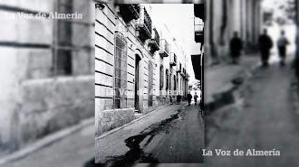 Tramo alto de la calle de Eduardo Pérez, con la casa donde vivía la familia Buil en primer plano y más arriba la vivienda habitada por las monjas.