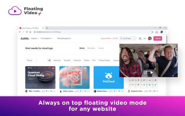 Floating video plus