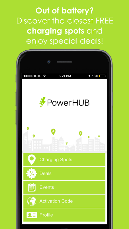 PowerHUB – Screenshot