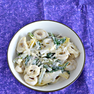 Spinach Artichoke Tortellini with Creamy Lemon Sauce