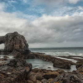 Pollard's Arch  by Helen Quirke  - Landscapes Caves & Formations ( ireland, pollard's arch, wild atlantic way, seascape, morning, donegal,  )