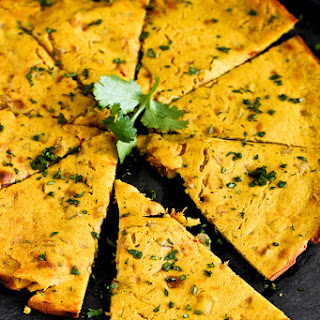 Indian Spiced Chickpea Flatbread.