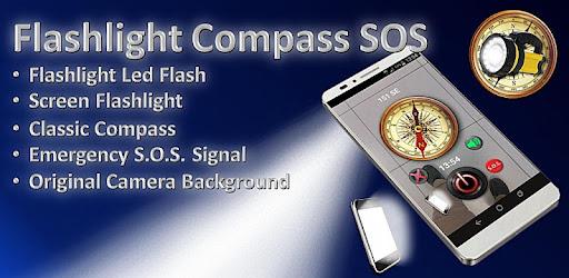 Приложения в Google Play – Flashlight Compass SOS (Free)