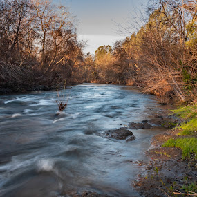 Big Chico Creek by Michael Mercer - Landscapes Waterscapes