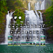 3D Live Natural Waterfall Keyboard Theme