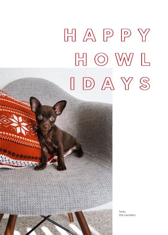 Happy Howlidays - Christmas Card Template