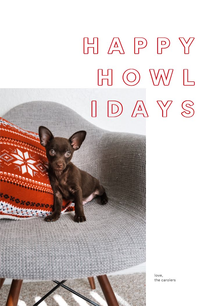 Happy Howlidays - Christmas Card Template