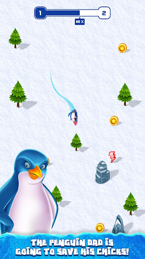 Penguin Snow Surfing  captures d'écran 4