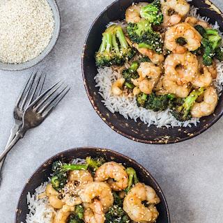 15 minutes Asian shrimp and broccoli.