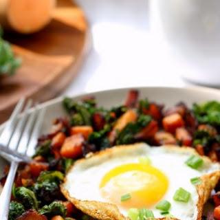 Sweet Potato Bacon Kale Hash for One {Paleo & Whole30}