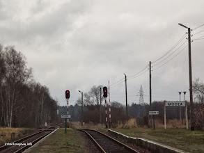 Photo: Wschodnia głowica stacji sygnalizatory B i C wyjazdowe w kierunku Rokitek