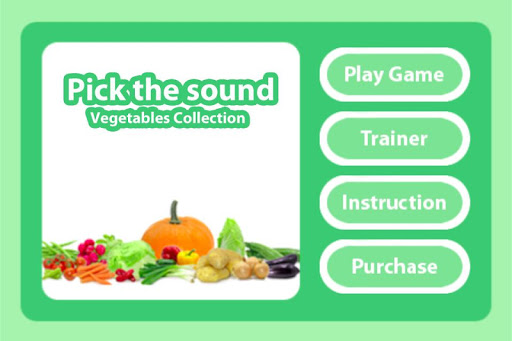 Pick the Sound - Vegetables