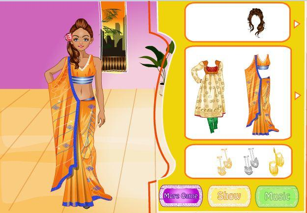 android Indian Bride Dress Up Makeover Screenshot 5