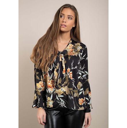 Dry Lake Zelda blouse black cherry print
