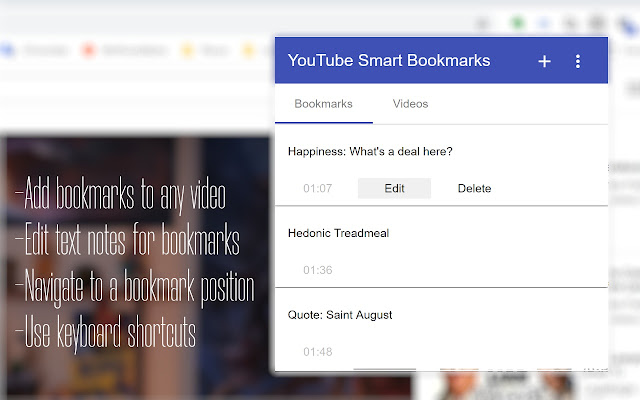 Smart Bookmarks for YouTube: Productivity Up