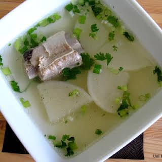 Chinese Pork Sparerib and Daikon Soup.