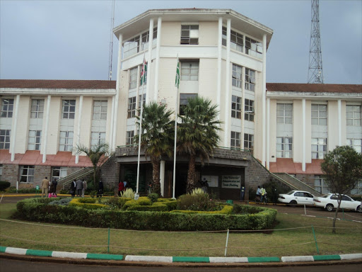 The Moi University administration block. Photo/FILE