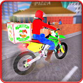 Moto Pizza Delivery Bike: Deliver Pizza in City