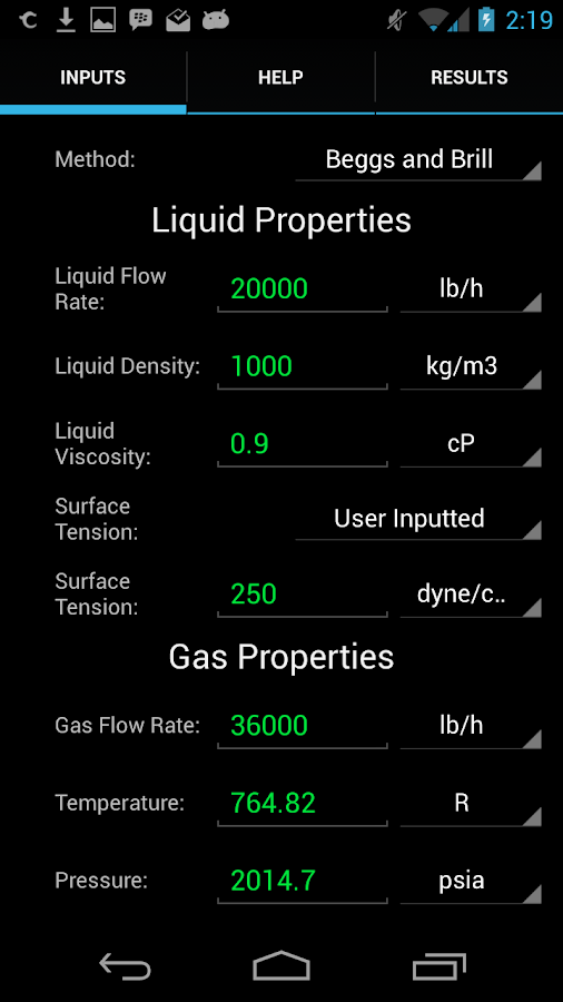 Two Phase Pressure Drop- screenshot