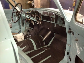 Photo: sound-proof insulation is one of very few modern additions to the original car