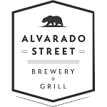 Logo of Alvarado Street Blue An Gold