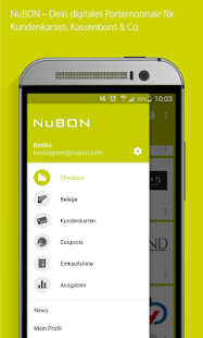 NuBON Coupons & Haushaltsbuch Screenshot