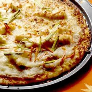 Gourmet Thai Chicken Pizza.