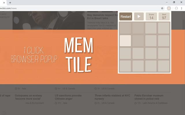 Mem Tile (Popup Game)