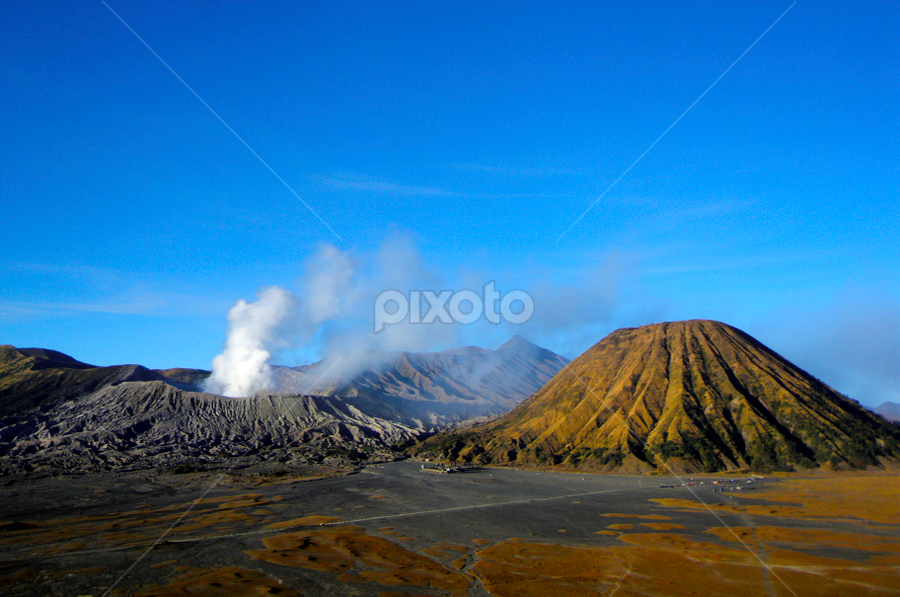Bromo  by Ajar Setiadi - Landscapes Mountains & Hills ( hills, mountain, bromo, World_is_Blue,  )