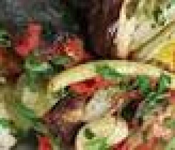 Delicious Greek Veggie Pitas Recipe