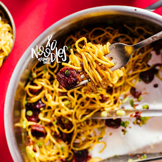 Chinese Sausage Noodles Recipes.