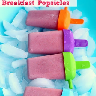 Oatmeal Smoothie Breakfast Popsicles.