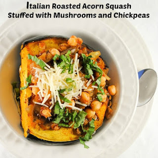 acorn squash stuffed with mushrooms and chickpeas mother rimmy s acorn ...