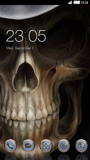 Skull Face CLauncher Theme