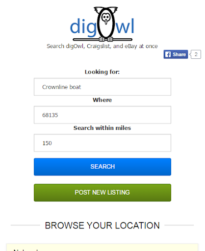 DigOwl Classifieds Search