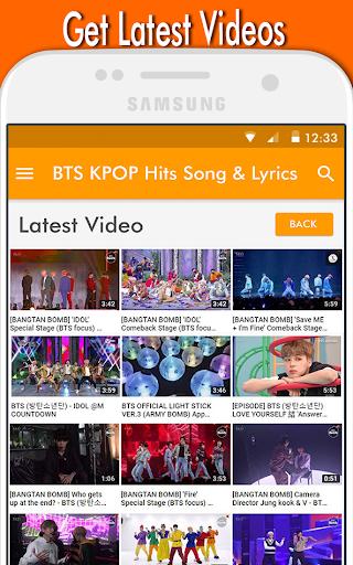 BTS KPOP Hits Song & Lyrics 1.0 screenshots 4
