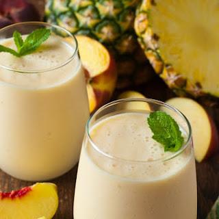Fresh Pineapple Peach Smoothie Recipe