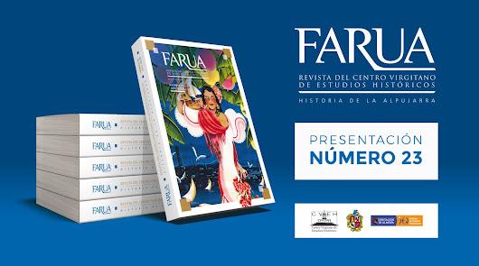 Presentación virtual de la revista Farua esta tarde en las redes sociales
