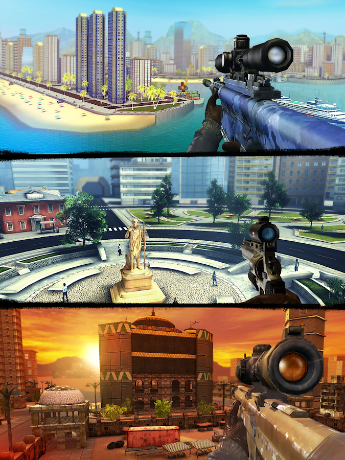 Screenshots of Sniper 3D Assassin Gun Shooter for iPhone