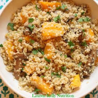 Mushroom and Squash Quinoa Risotto.