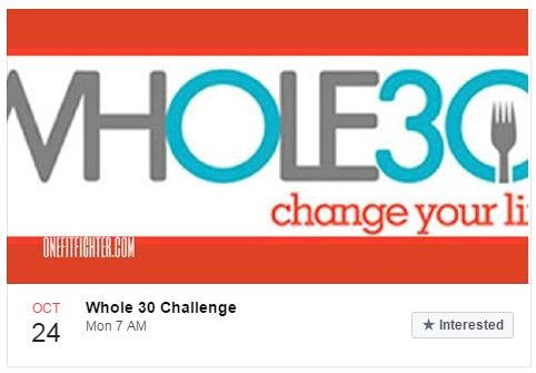 WHOLE 30 Challenge Group. Enroll Today!!