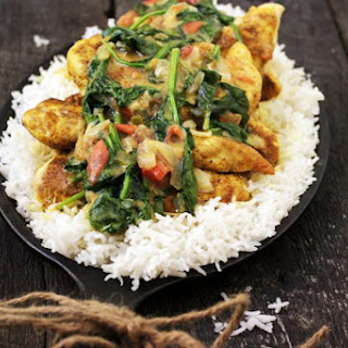 Brazilian Chicken Curry with Spinach