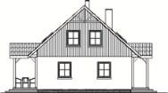 Domek Ciepły szkielet drewniany 012 SK V1 - Elewacja lewa